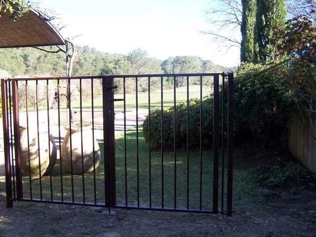 gard cu portita din fier forjat