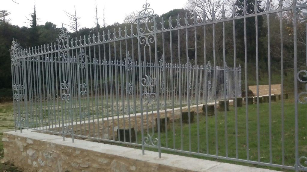 Gard din fier forjat model Cluj