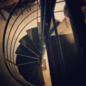 Scara din fier forjat in Spirala