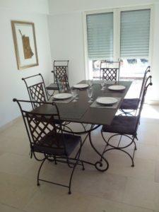 masa si si scaune din fier forjat